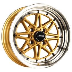 Drag Wheels DR20 - Gold/Machine Face Rim