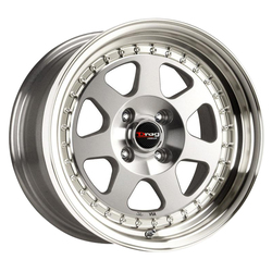 Drag Wheels DR27 - Silver with Machined Lip Rim