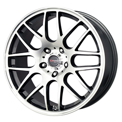 Drag Wheels DR37 - Gunmetal with Machined Face Rim