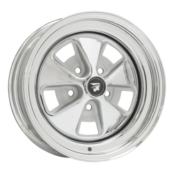 Wheel Vintiques 24 Series Mercury Cougar '67-68 - Chrome/Silver - 14x5