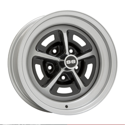 Wheel Vintiques 50 Series Chevy SS 396 - Silver / Semi Gloss Black Rim