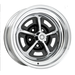 Wheel Vintiques 54 Series Magnum 500 - Chrome/Semi Gloss Black Rim - 15x7