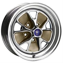 Wheel Vintiques 55 Series Ford Style Steel - Chrome / Mocha Rim