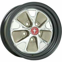 Wheel Vintiques 55 Series Ford Style Steel - Chrome/Satin Black