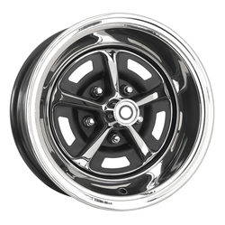 Wheel Vintiques 84 Series Magnum 500 - Chrome/Semi Gloss Black Rim
