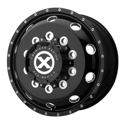 ATX Wheels AO405 Trex Front - Gloss Black Milled - Front Rim - 24.5x8.25