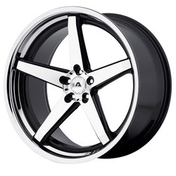 Adventus Wheels AVS-2 - Gloss Black Machined w/SS Lip