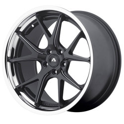 Adventus Wheels AVS-3 - Matte Black Milled with SS Lip