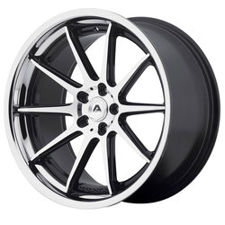Adventus Wheels AVS-4 - Gloss Black Machined w/SS Lip