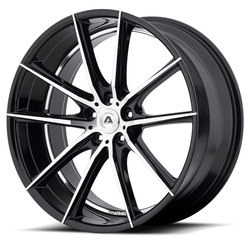 Adventus Wheels AVX-10 - Matte Black Milled