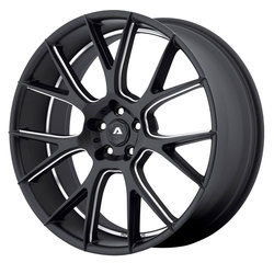 Adventus Wheels AVX-7 - Matte Black Milled