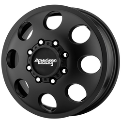American Racing Wheels AR204 Baja Dually (Front) - Satin Black - 17x6