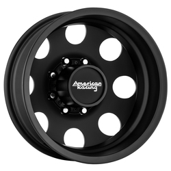 American Racing Wheels AR204 Baja Dually (Rear) - Satin Black - 17x6
