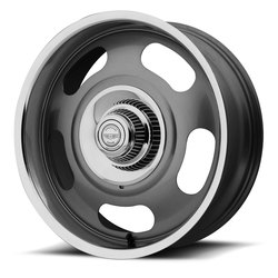 American Racing Wheels VN506 Rally 1PC - Mag Gray Center with Polished Lip