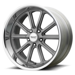 American Racing Wheels VN507 Rodder - Vintage Silver with Diamond Cut Lip Rim