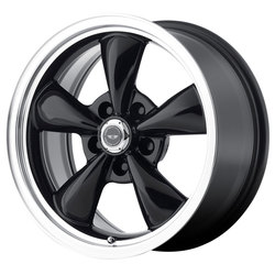 American Racing Wheels AR105M Torq Thrust M - Gloss Black with Machined Lip Rim