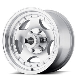 American Racing Wheels AR23 - Machined with Clearcoat Rim - 14x7