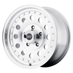 American Racing Wheels AR62 Outlaw II - Machined with Clearcoat Rim - 14x7