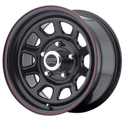 American Racing Wheels AR767 - Gloss Black with Red and Blue Stripe Rim - 16x7
