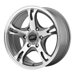 American Racing Wheels AR898 - Dark Silver Machined Rim