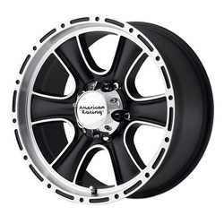 American Racing Wheels AR902 - Satin Black Machined Rim