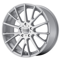 American Racing Wheels AR904 - Bright Silver / Machined Face Rim - 17x7