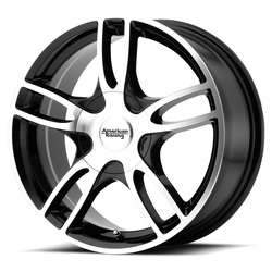 American Racing Wheels AR919 - Gloss Blk Mach Rim - 14x6