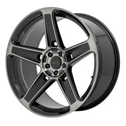 American Racing Wheels AR936 Hellion - Gloss Black with Gray Tint Rim