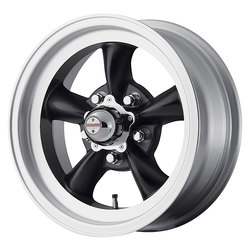American Racing Wheels VN105 Torq Thrust D - Satin Black with Machined Lip - 14x6