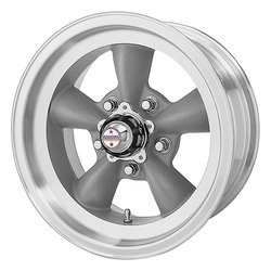 American Racing Wheels VN105 Torq Thrust D - Gray W/ Mach Lip - 14x6
