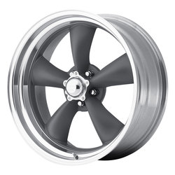 American Racing Wheels VN215 Classic TorqThurst II - Mag Gray with Machined Lip - 14x6