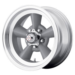 American Racing Wheels VN309 TorqThrust - Vintage Silver with Machined Lip Rim - 15x5
