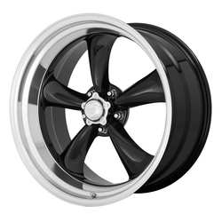 American Racing Wheels VN315 Torq Thrust II 1PC - Gloss Black Machined Lip Rim