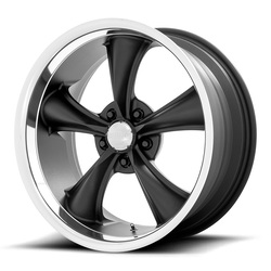 American Racing Wheels VN338 Torq Thrust Boss - Textured Black with Diamond Cut Lip Rim
