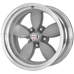 American Racing Wheels VN402 Classic 200S - Vintage Silver with Polished Center Rim