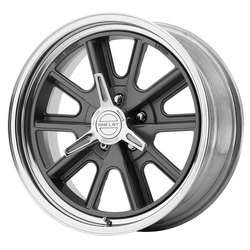 American Racing Wheels VN427 Shelby Cobra - Gray Center Polished Barrel Rim