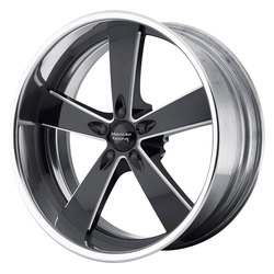American Racing Wheels VN472 - Black Milled Center/Polished Rim - 17x10