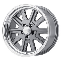 American Racing Wheels VN527 427 Mono Cast - Gray Machined Rim - 17x7