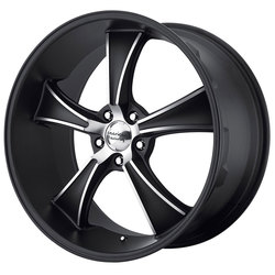 American Racing Wheels VN805 Blvd - Satin Black w/Machined Face Rim - 22x11