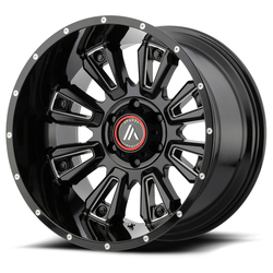 Asanti Wheels AB808 Blackhawk - Gloss Black Milled