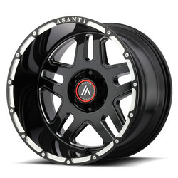 Asanti Wheels AB809 - Gloss Black Milled