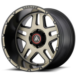Asanti Wheels AB809 - Matte Black Machined w/ Tinted Clear