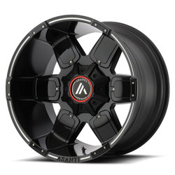 Asanti Wheels AB811 Warthog - Satin Black /Gloss Black