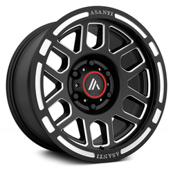 Asanti Wheels AB812 Sentry - Satin Black Milled