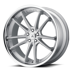 Asanti Wheels ABL-23 Delta - Brushed Silver with Chrome Lip - 24x9