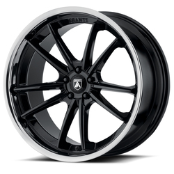 Asanti Wheels ABL-23 Delta - Gloss Black with Chrome Lip - 24x9