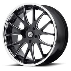 Asanti Wheels ABL-03 Castor - Matte Black Milled with SS Lip Rim