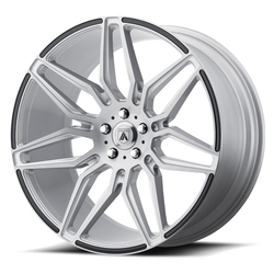 Asanti Wheels ABL-11 Sirius - Brushed Silver with Carbon Fiber Insert Rim - 22x9