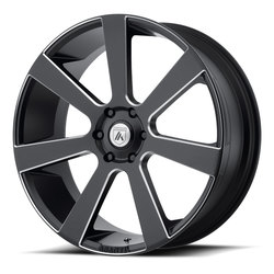 Asanti Wheels ABL-15 Apollo - Satin Black Milled Rim - 24x9