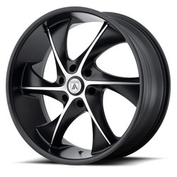 Asanti Wheels ABL-17 - Satin Black Machined - 24x9